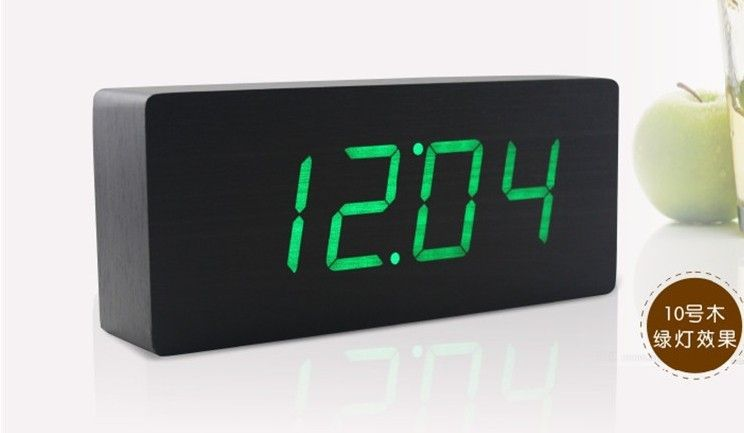 Digital Wall Alarm Clock Quality Desk Bedroom Directly From China Flip Suppliers Green Led Wooden Wood Desktop