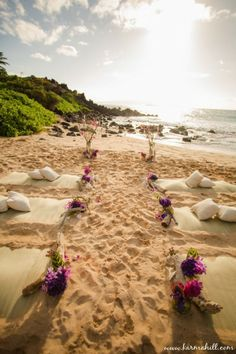 Simple Beach Wedding Ideas | Simple Beach Wedding Love This Idea So Simple And Stylish Beach