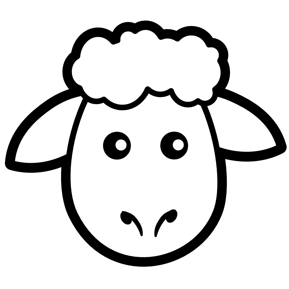 Drawing Sheep Face Sheep Template Sheep Crafts