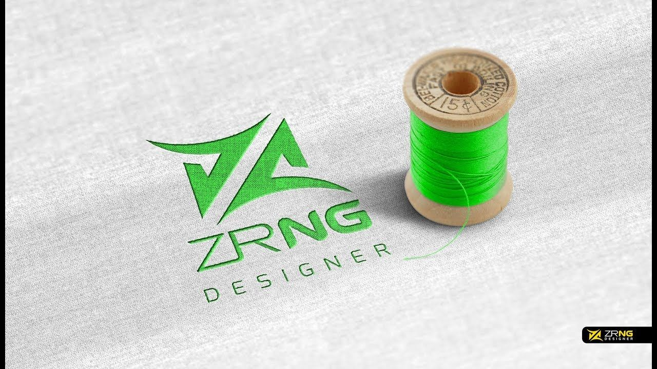 Adobe photoshop CC Fabric Embroid ered Logo Mockup by Zrng ...