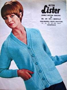 vintage knitting pattern lister cardigan - I want one.
