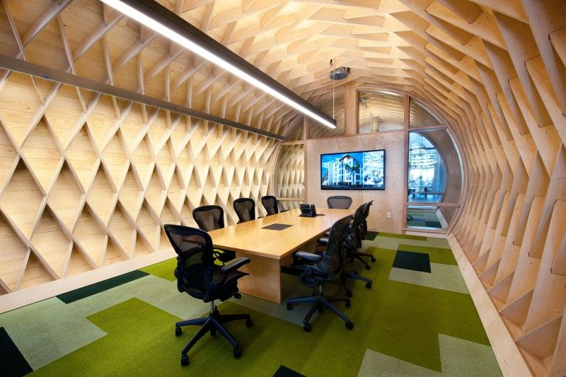 awesome office spaces. cozy contemporary office space with indoor green attractive meeting room interior awesome design spaces s