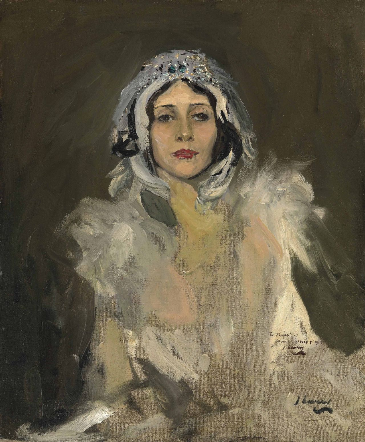 John Lavery (Ireland) Anna Pavlova as The Swan (Study) 1911