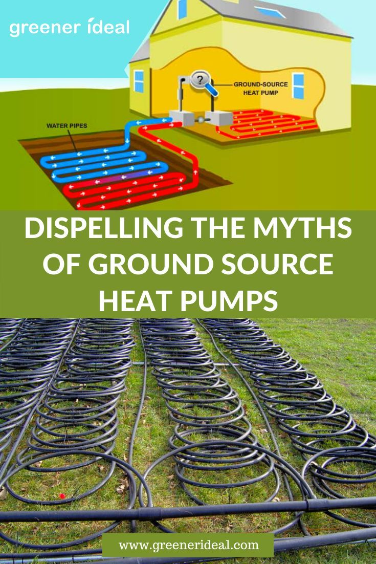 Dispelling The Myths Of Ground Source Heat Pumps Greener Ideal Heat Pump Ground Source Heat Pump Alternative Energy