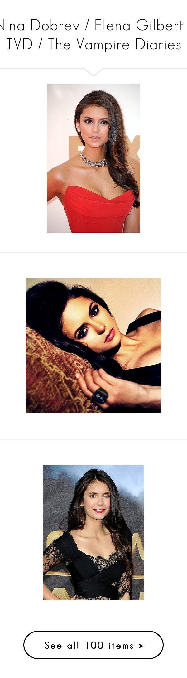 """Nina Dobrev / Elena Gilbert / TVD / The Vampire Diaries"" by annafilipa ❤ liked on Polyvore featuring nina dobrev, vampire diaries, backgrounds, girls, models, celebrities, people, the vampire diaries, home and home decor"