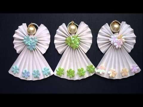 Origami angel anio y pinterest noel anges de no l i - Decoration de noel origami ...