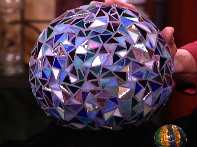 DIY Mosaic Tile Garden Sphere For Decoration Video HGTV Stained Classy Bowling Ball Garden Decorations