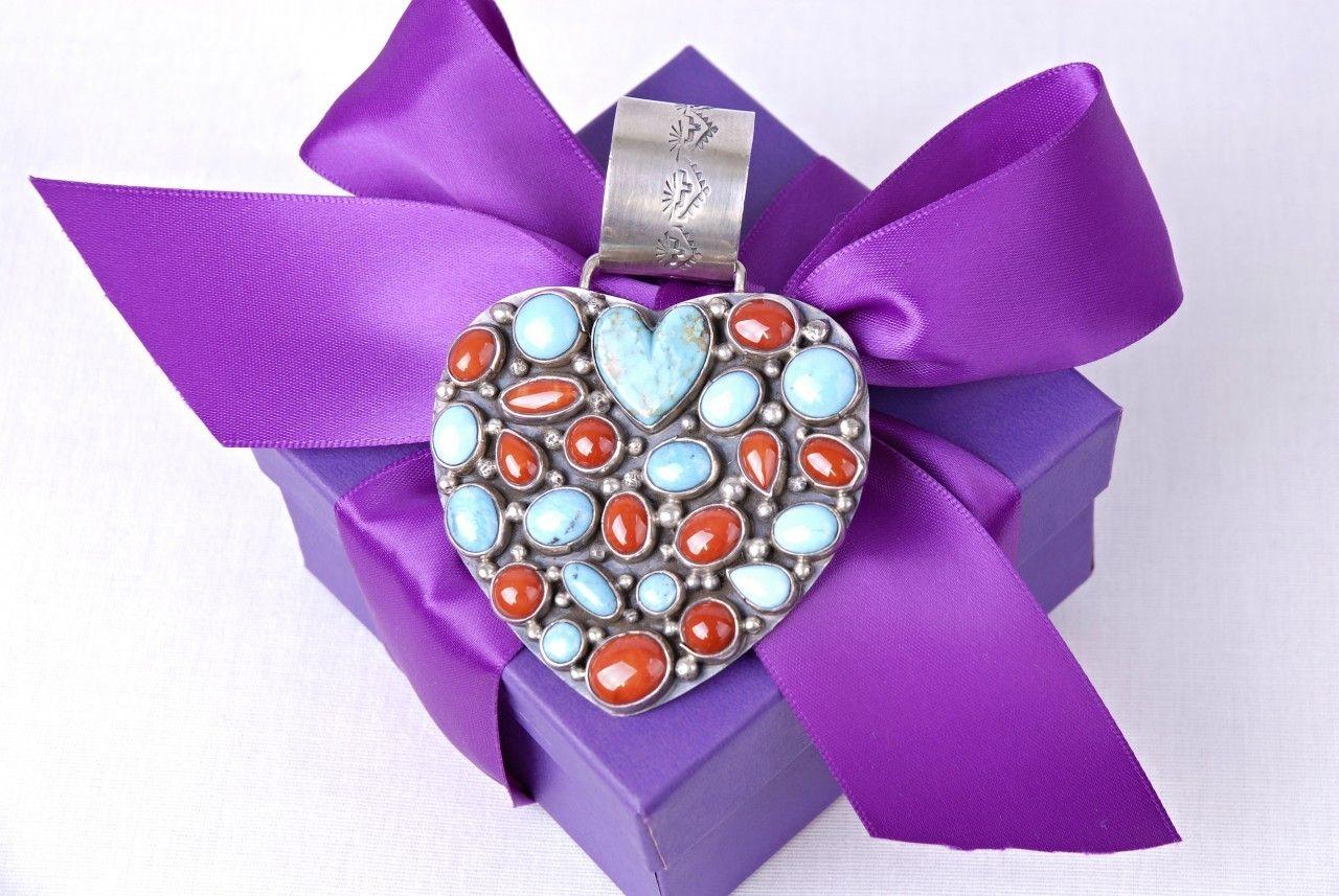 Michelle's Ruidoso - Rocki Gorman Multi Stone Heart Pendant On Beads, $616.00 (http://www.michellesruidoso.com/rocki-gorman-multi-stone-heart-pendant-on-beads/)
