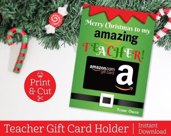 Photo of Teacher Gift Card Holder, Amazon Gift Card Holder, INSTANT EDITABLE DOWNLOAD, Printable Teacher Appreciation Gift, Teacher Gift