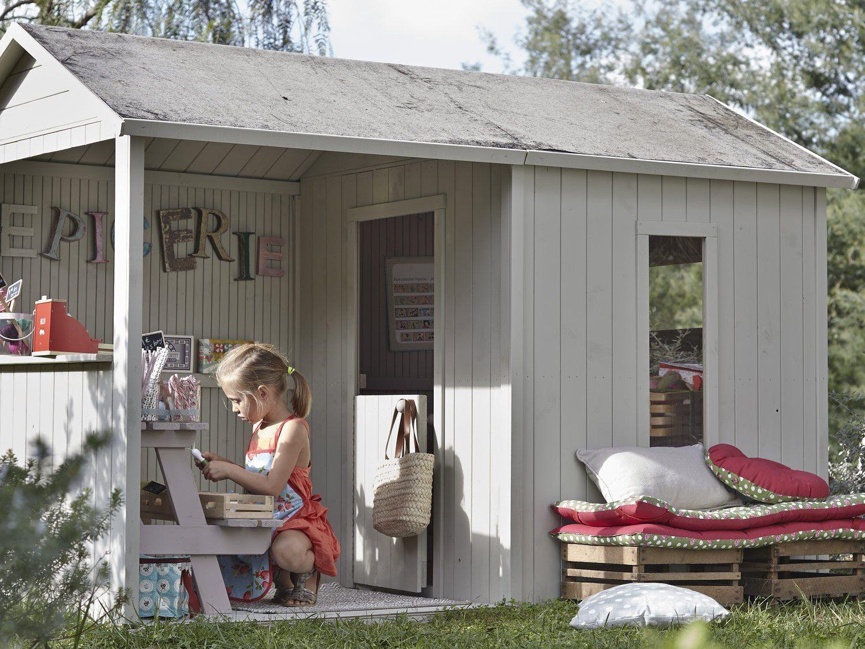 Une cabane en bois pour enfant prix doux id es jeux cabane bois enfant maisonnette en - Baraque de jardin ...