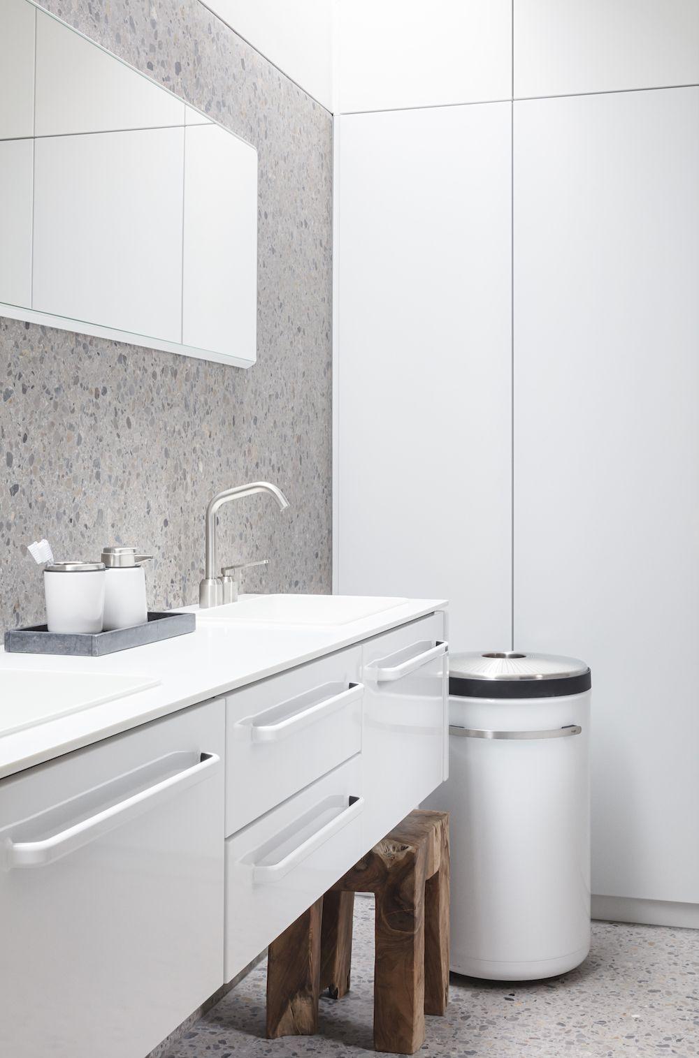 Vipp Opens New Hotel Room In Landmark Chimney House In Copenhagen In 2020 House Bathroom Tall Cabinet Large Open Plan Kitchens