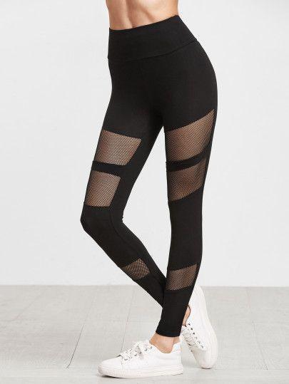 e84ad81930 Fishnet Insert High Waist Leggings | dream closet | Pantalones ...