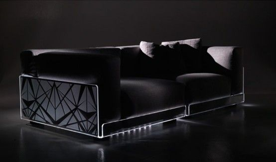 Versatile Sofa With Built In Mood LED Lights   Asami Light Sofa By Colico