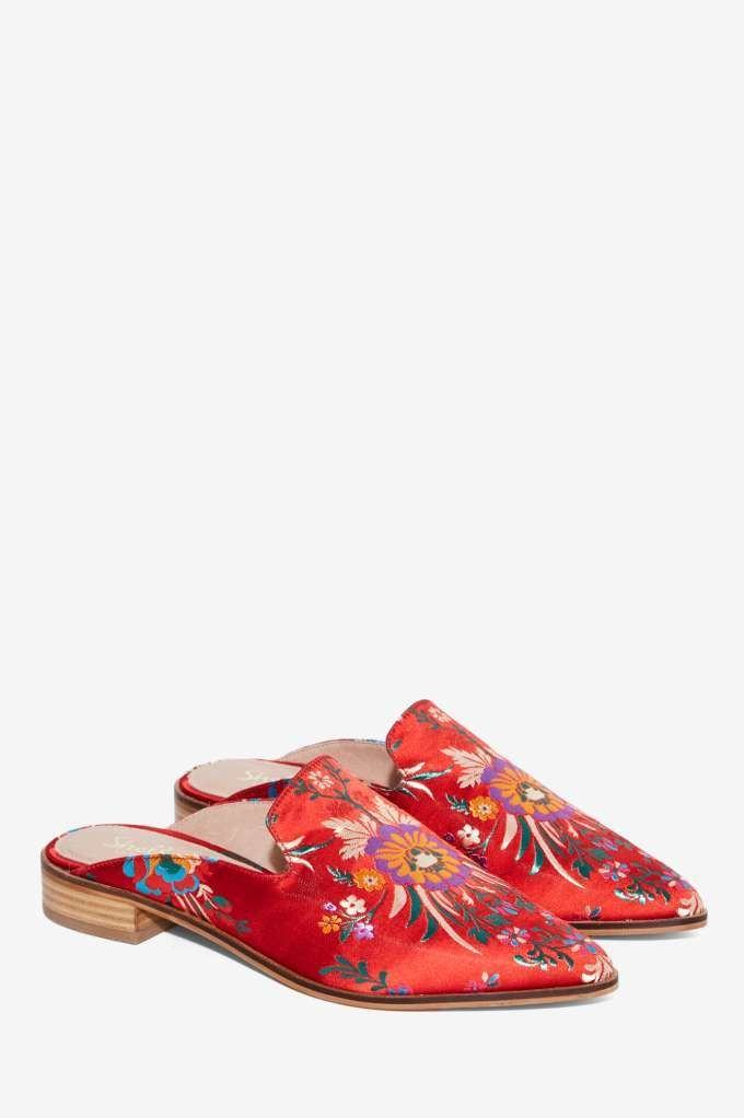 Shellys London Cantara Satin Mule - Shoes | Flats | Valentine's Day |  Spring Smackdown