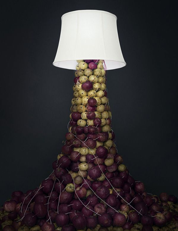photographer creates captivating light displays powered by vegetables - Captivating Light Installation Artists