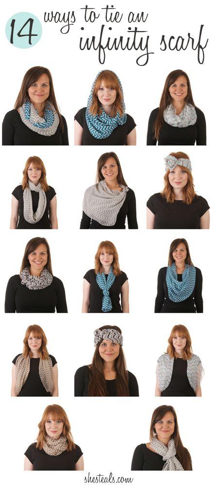 14 ways to tie an infinity scarf fashion