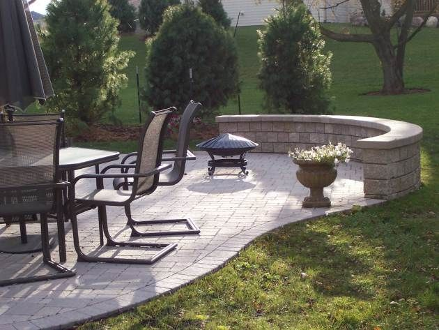 Miraculous Columbus Paver Patio Rounded Edges Rounded Retaining Wall Evergreenethics Interior Chair Design Evergreenethicsorg