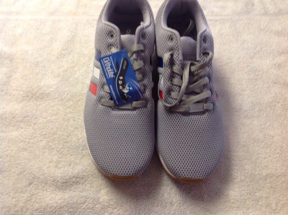 ADIDAS ORIGINALS ZX FLUX RUNNING SHOES MENS SIZE US 11 GREY TRICOLOR BB2768