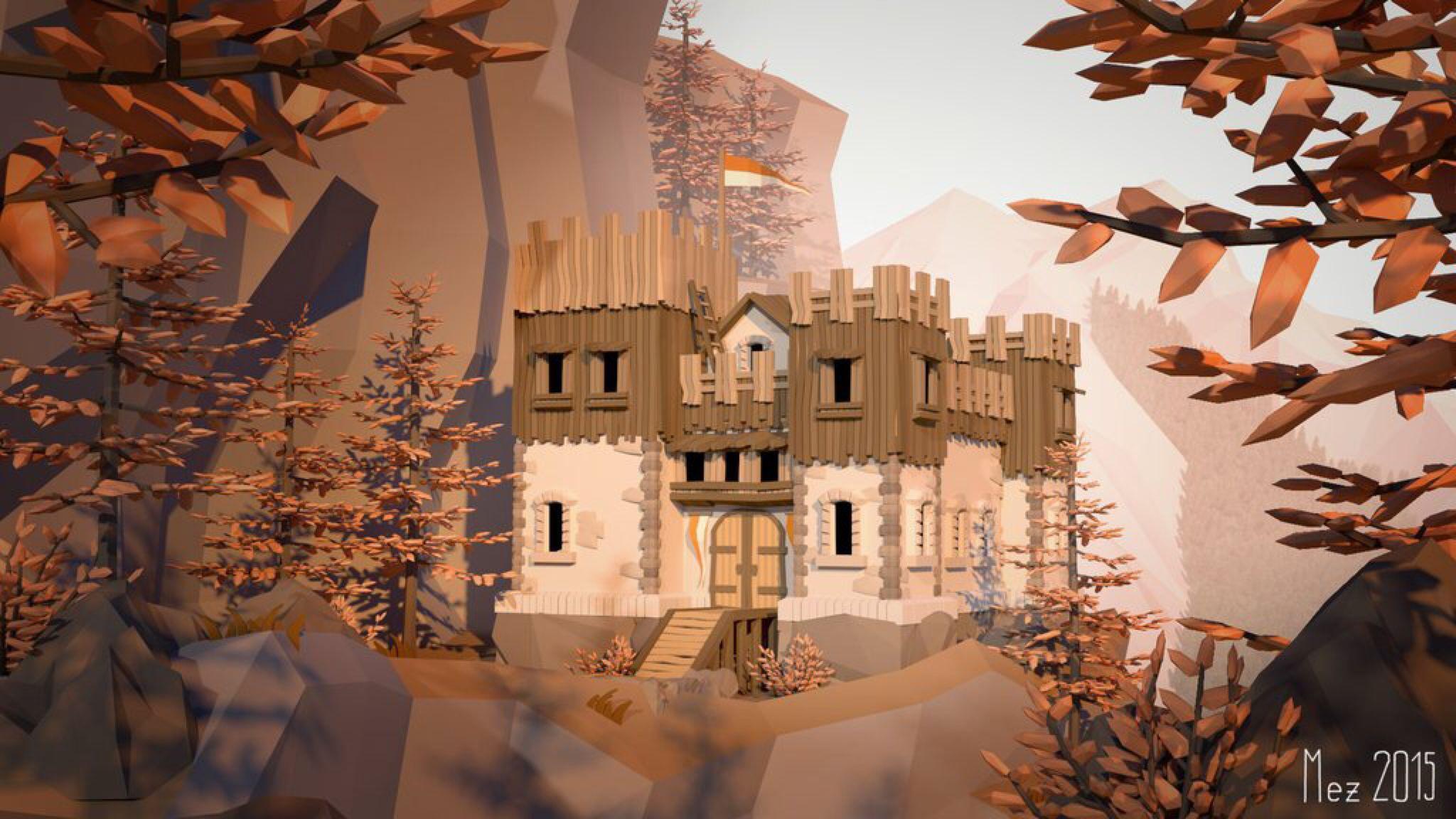 castle [LowPoly] by Mezaka on @DeviantArt