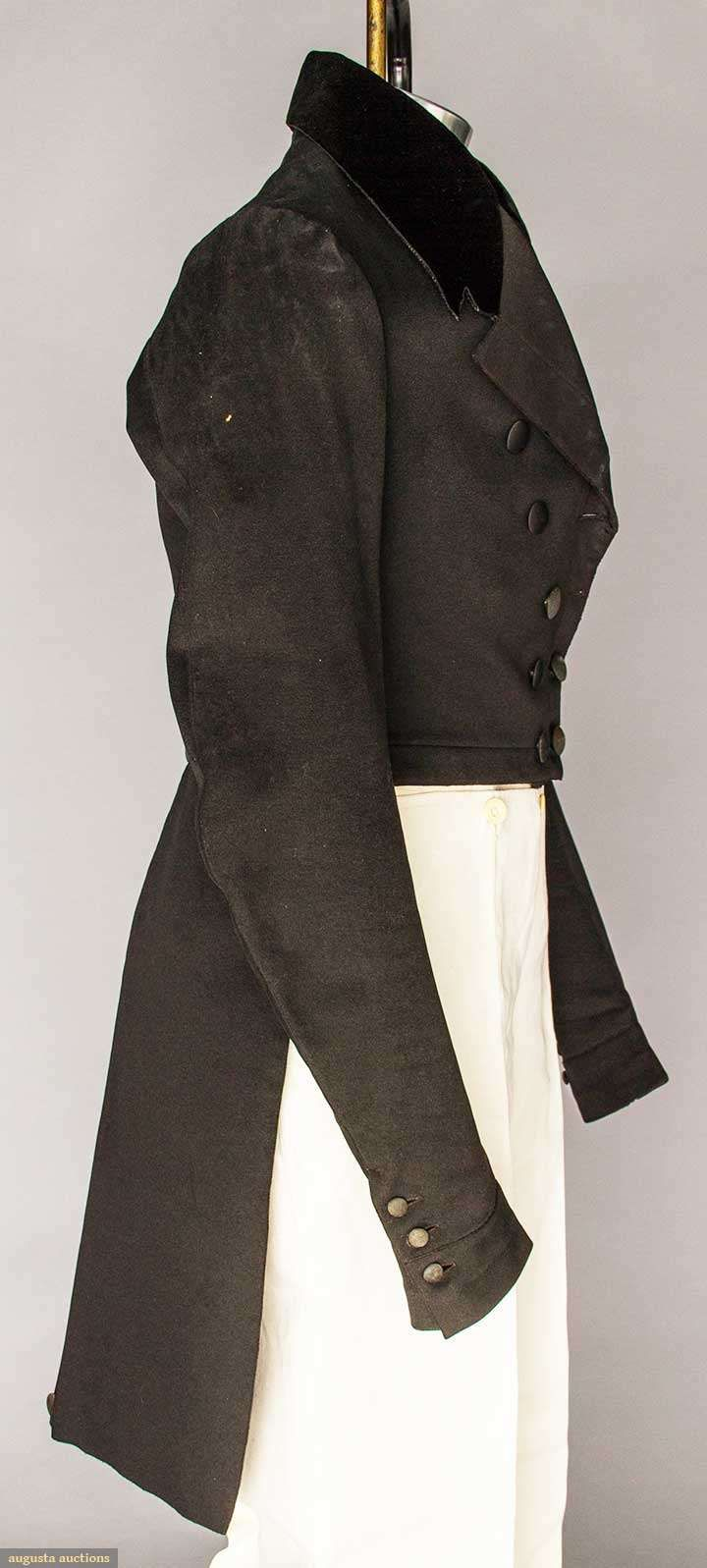 Tail Coat (image 2) | 1840 | wool, velvet | Augusta Auctions | April 20, 2016/Lot 175