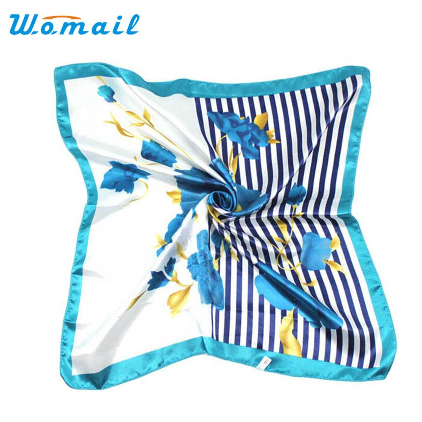 >> Click to Buy << Womail Coolbeener Hot Satin Silk Square Scarf Women Fashion Joker Four Seasons Silk Satin Scarves Dec6 #Affiliate