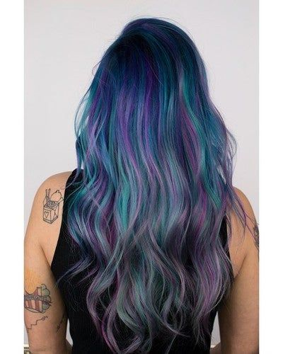Blue Smoke Hair Color Steel Blue In 2020 Hair Styles Anime