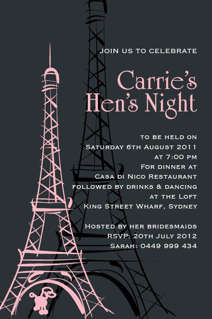 free hens night invitation templates