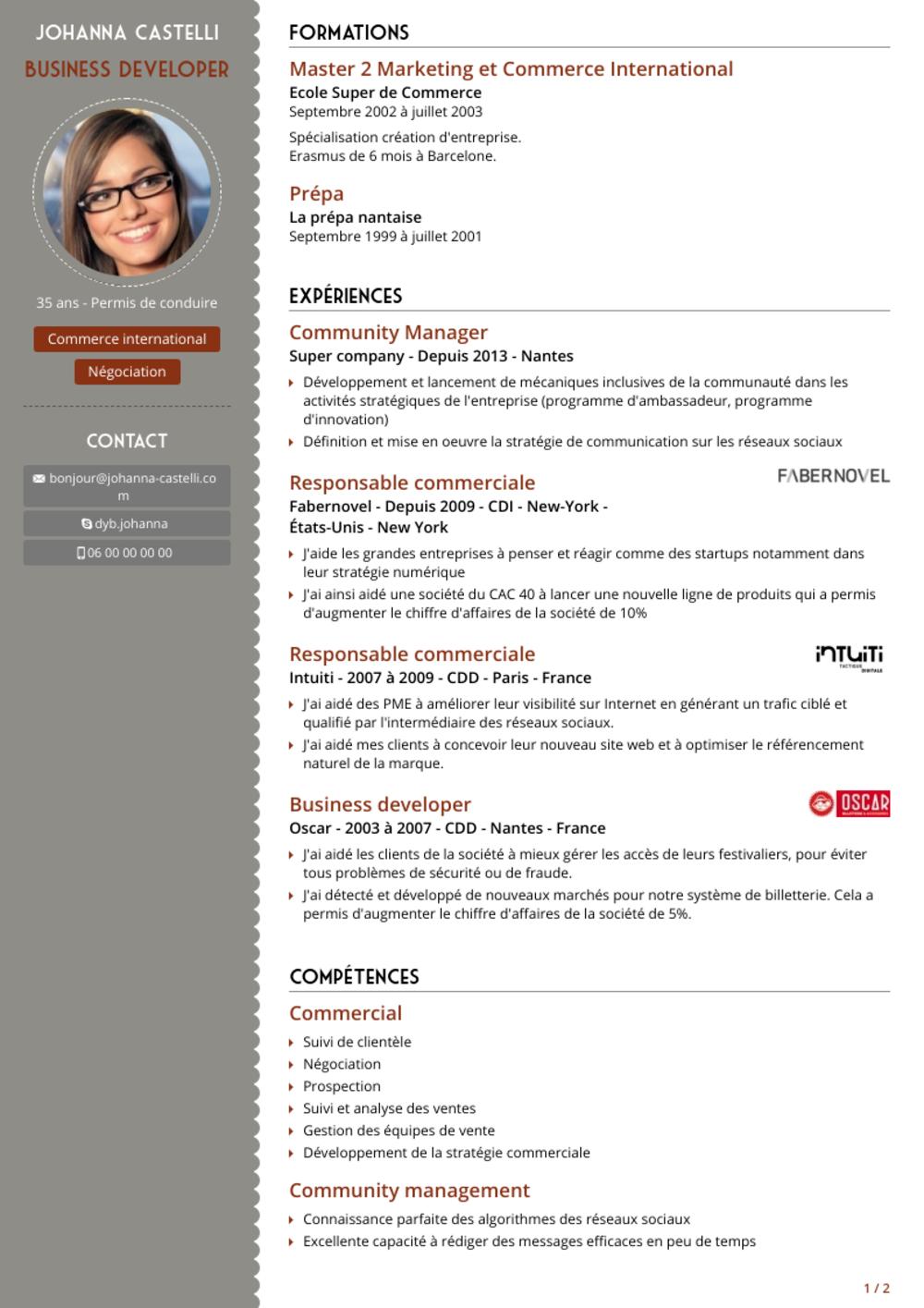 Modele Cv Algerie Pdf Resume Cv Resume Curriculum Vitae