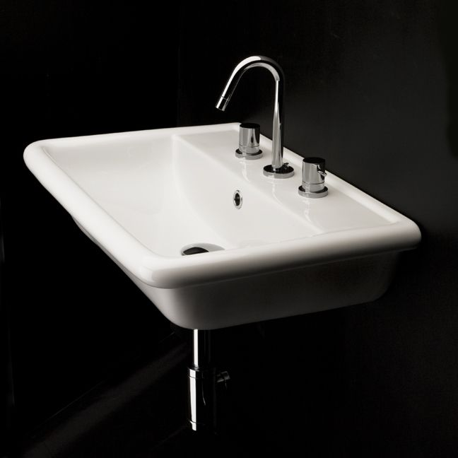 Lacava AL024 Alia Wall Mount Porcelain Sink With Overflow :: Bathroom Sinks  :: Bath Kitchen And Beyond