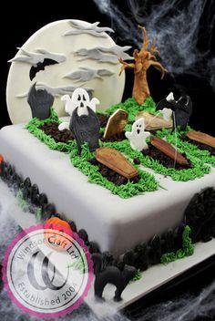 halloween graveyard cakewindsor  cakewindsor craft