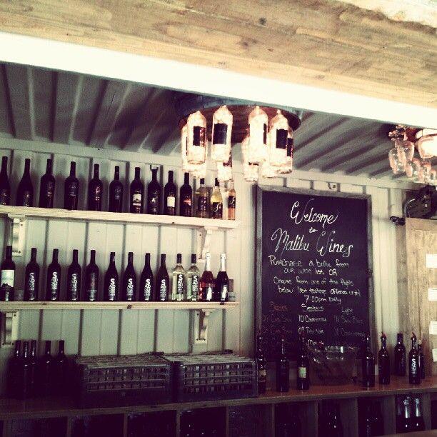 The bar at Malibu Wines