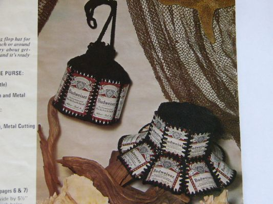 Crochet pattern beer can hat PDF | Aluminum can crafts | Pinterest