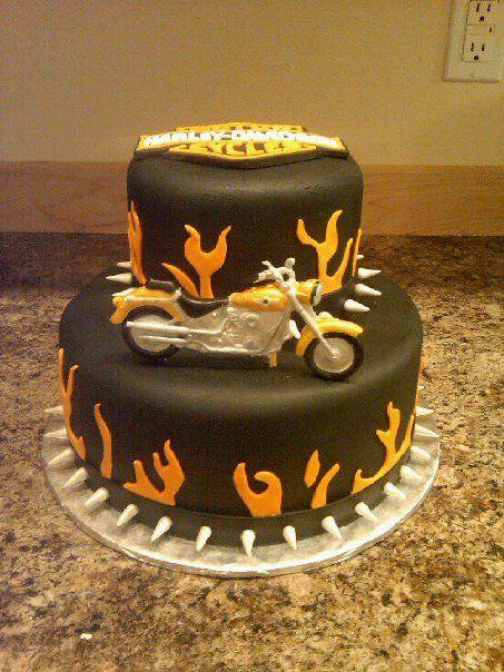 harley davidson birthday party Custom Cakes By Denise Harley