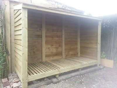 Timeless Timber Products Extra Large Log Store 2400mm (8') Wide £295