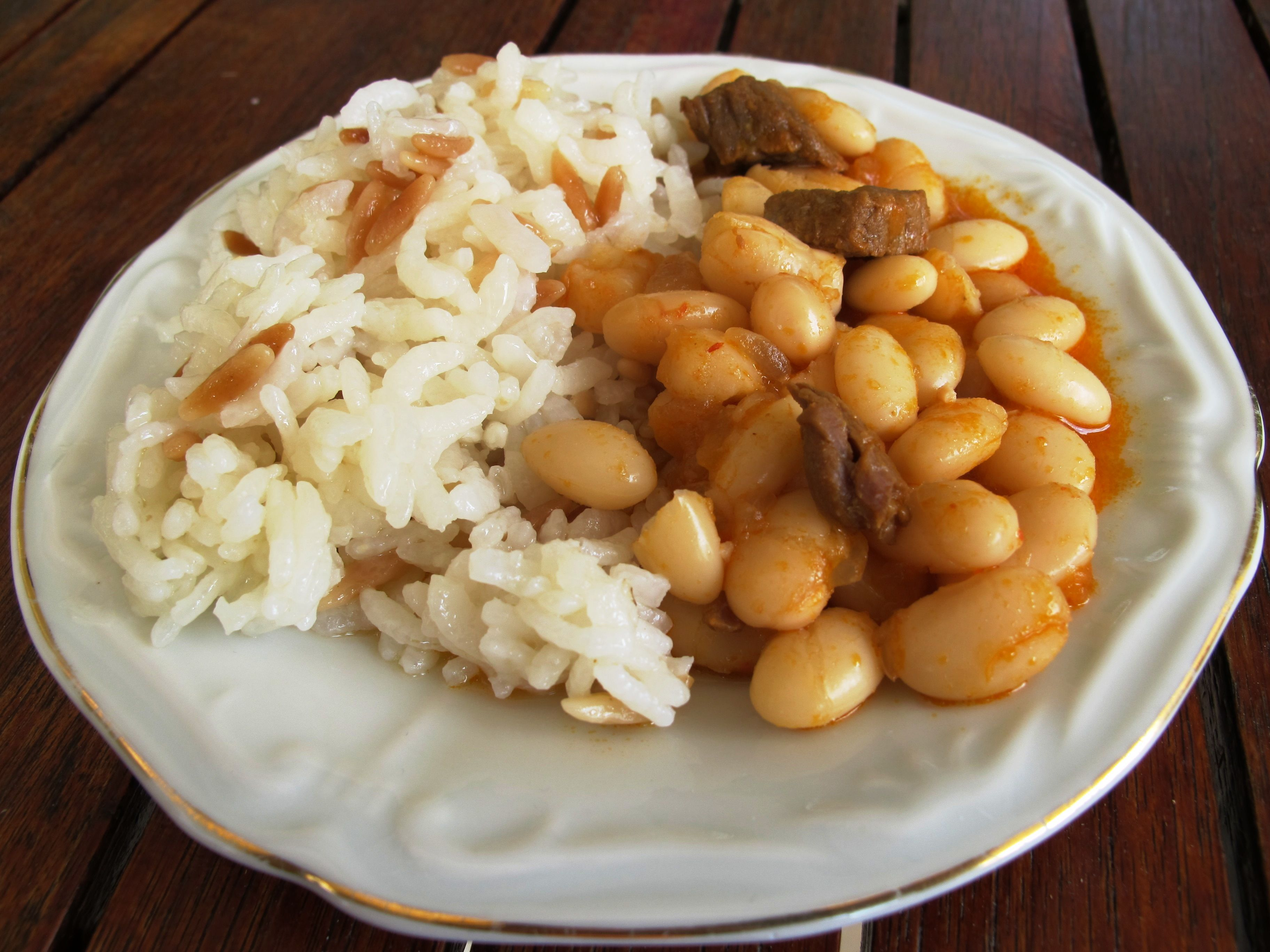 Cannellini Beans And Pilaf Food Healthy Meal Suggestions Dry Beans