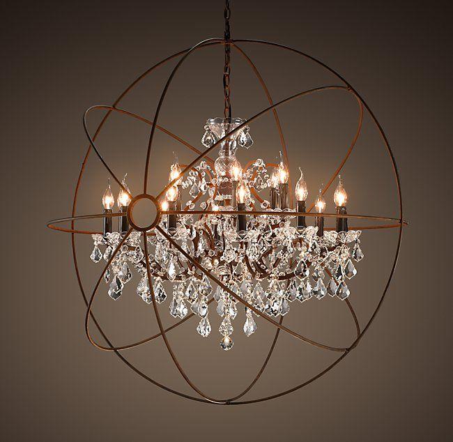 Foucaults orb clear crystal chandelier 44 2246 new house foucaults orb clear crystal chandelier 44 2246 aloadofball Gallery