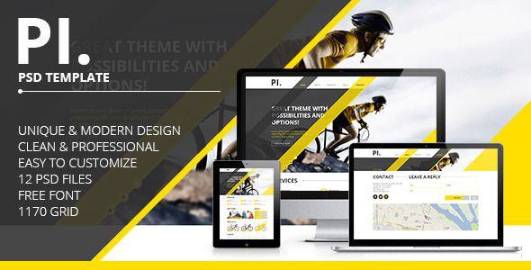 PI. - Portfolio PSD Template | Psd templates, Template and Creative ...