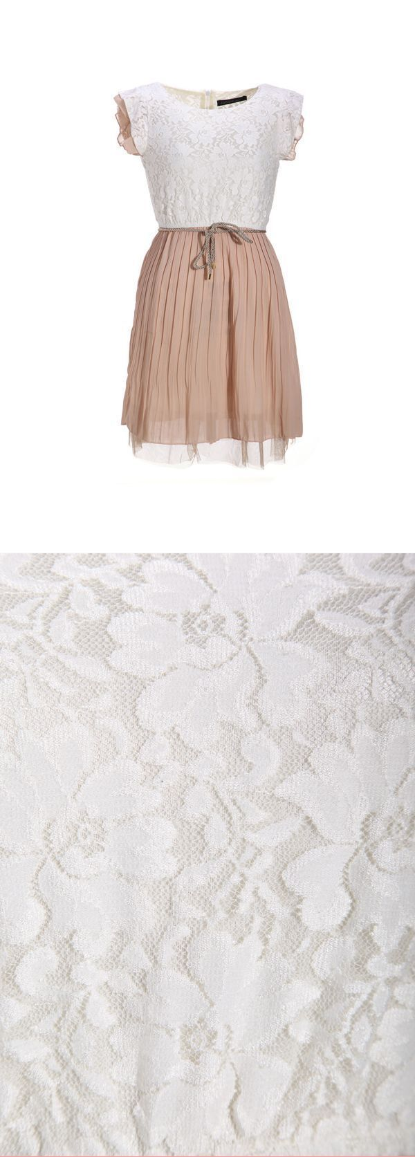 T Length Chiffon Dresses Women 8217 S Beige Lace Dress Sleeveless Pleated Vest Waist Mini For Mother Of The Bride Chi