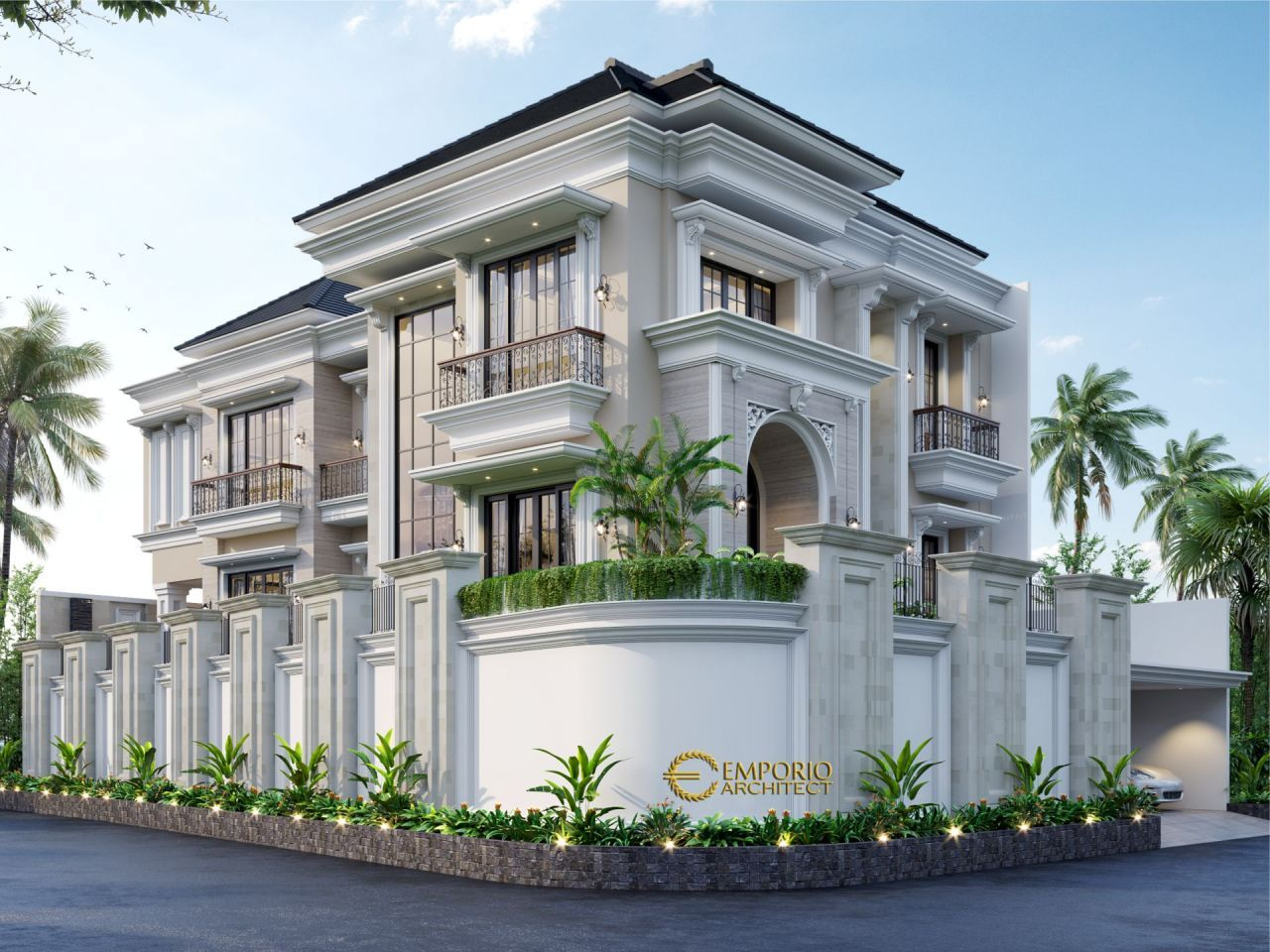 Mrs Soraya Classic House 2 5 Floors Design Bekasi Jawa Barat House Extension Design Classic House Exterior House Design