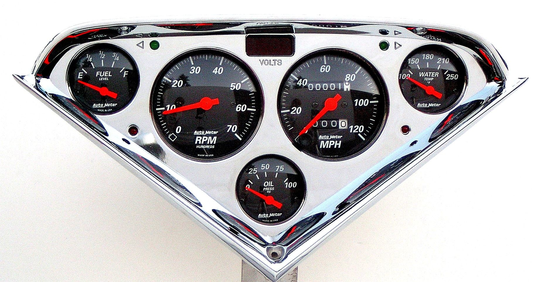 Custom Gauges For Classic Cars And Trucks Muscle Of America 1955 Ford F100 Pick Up Gauge Cluster