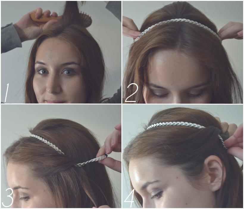 Coiffure Cheveux Mi Long Avec Headband Omyoga