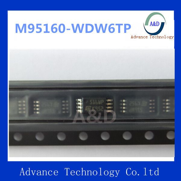 Оригинал M95160-WDW6TP IC EEPROM 16 КБИТ 10 МГЦ 8 TSSOP IC чип
