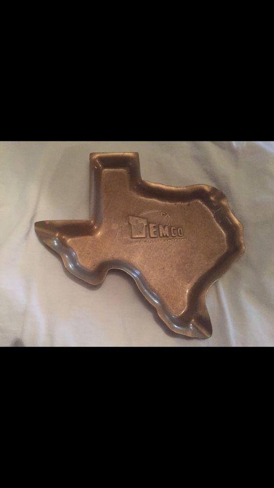 Vtg Texas Temco Aircraft Airplane Ashtray metal shape aviation  50's 60's