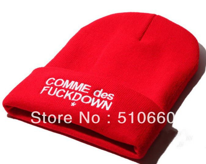 Free Shipping SSUR COMME DES FUCKDOWN Beanie Hats Caps For Winter Red on AliExpress.com. $9.99