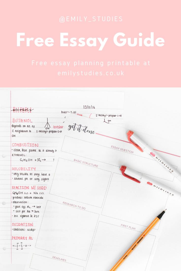 Help planning essay