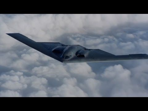 Never-before-seen video of B-2 Stealth Bomber - Published on Oct 26, 2015 Defense contractor Northrop Grumman has released never-before-seen high-definition video of the B-2 Spirit stealth bomber in flight.