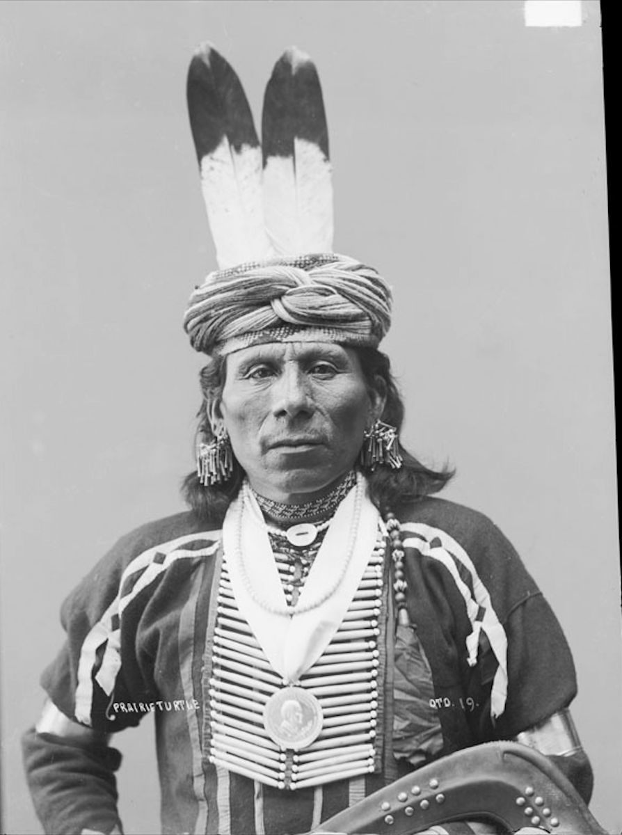 Cherokee Facial Features >> Kekre (The Prairie Turtle), Otoe, in Native Dress with ...