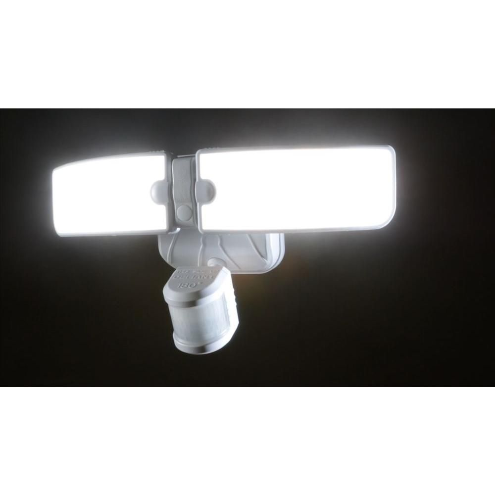 Defiant 180 Degree Outdoor White Led Blade Motion Security