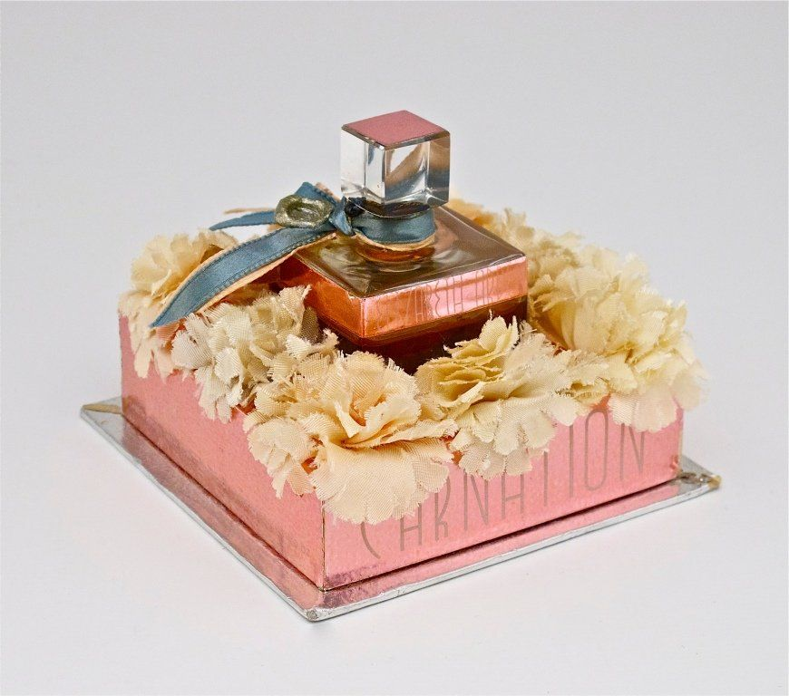 1930s Arden Carnation Mini Perfume Bottle