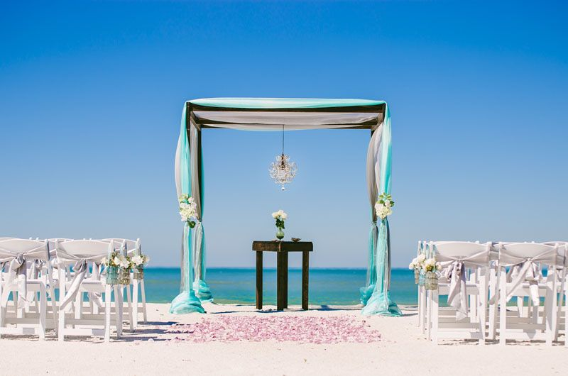 Gorgeous Chocolate Arbor With Our Beach Side Affair Package